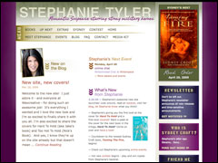 The newly redesigned StephanieTyler.com